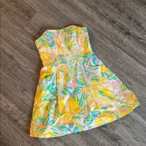 Lilly Pulitzer Strapless Dress with Pockets